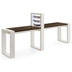 tavolo manicure living led doppio wenge