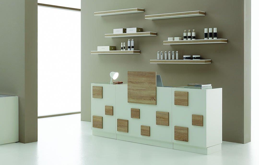 banco reception per centro estetico cube